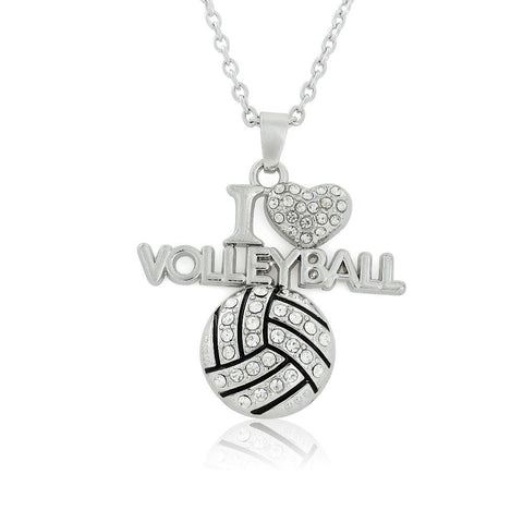 I Love Volley Ball Necklace