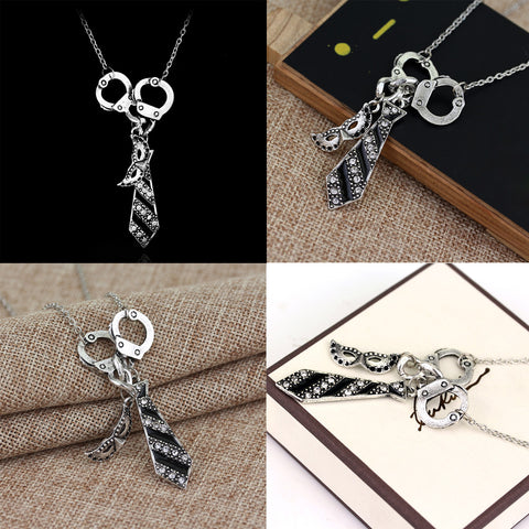 Fifty Shades of Grey Inspired Charm Necklace