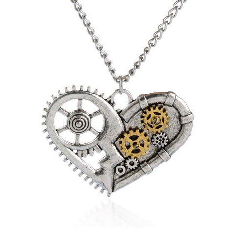 Steampunk Heart Necklace - LIMITED EDITION