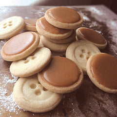 15 Dingels Oven Salted Caramel Glazed Shortbread BUTTONS Cookies