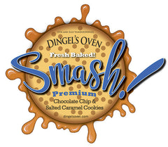 12 Dingel's Oven SMASH! Premium Guittard® Chocolate Chip Sandwich Cookies over-filled with chewy, Jacobsen® Sea Salted Caramel