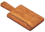 "Bisetti Olive Wood Cutting Board with Long Handle, 10.23"" x 4.72"""