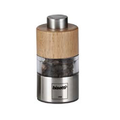 Bisetti Orta Mini Acrylic Salt & Pepper Mills (Walnut or Natural Wood)