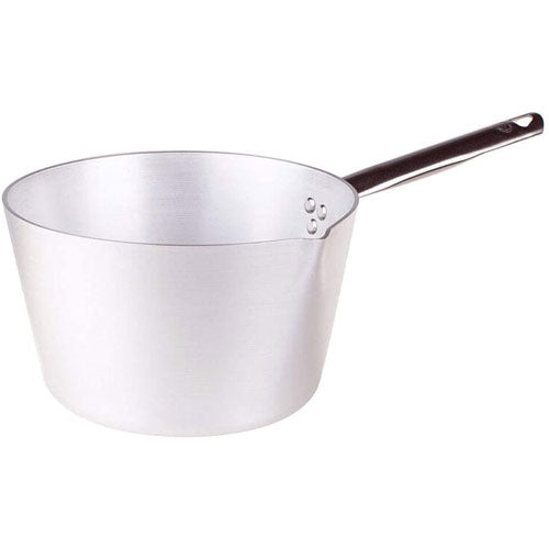 Agnelli 1.37 QT / 6.3 Inch Professional Aluminum Sauce Pan With Stainless Steel Handle, Made in Italy