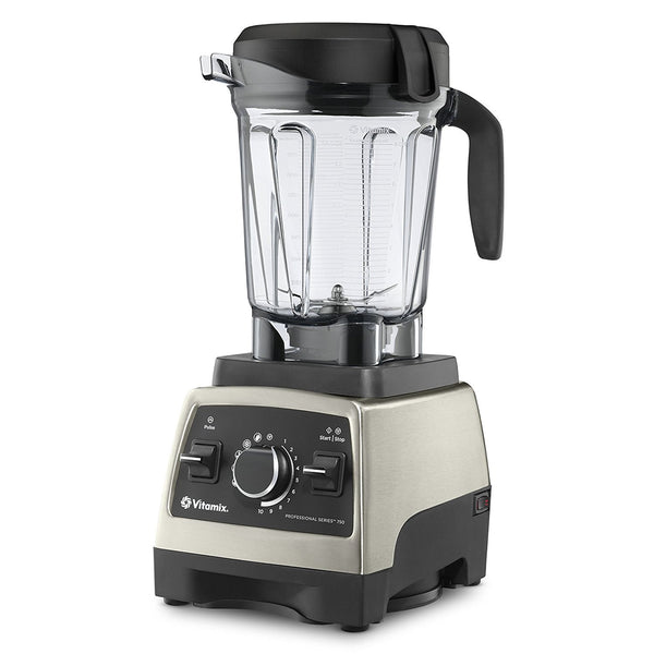 Vitamix Pro Series 750 Brushed Stainless Finish with 64oz Container and Cookbook, Heritage