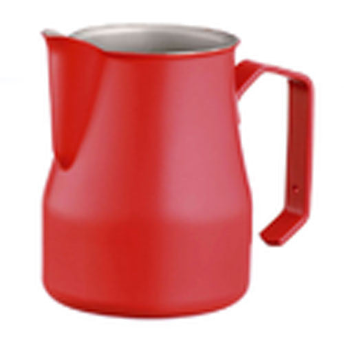 Motta Stainless Steel Professional Milk Pitcher/Jugs, 11.8-floz / 35-cl, Red