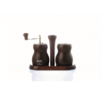 Bisetti Cuneo Pepper Mill & Salt Shaker Set (Walnut or Natural)