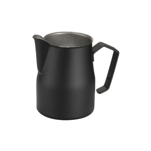 Motta Stainless Steel Professional Milk Pitcher/Jugs, 50-cl / 17-floz, Black