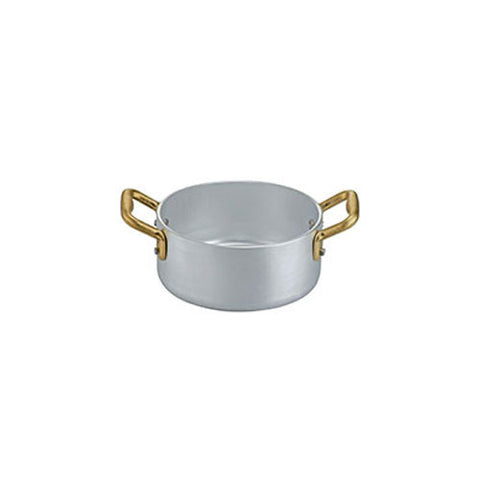 Ottinetti Brushed Aluminum Casserole With Copper Handles, 12-cm / 4.7-in