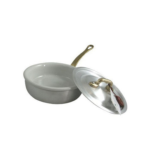 Ottinetti Brushed Aluminum Skillet With Lid & Ceramic Insert, 12-cm / 4.7-in