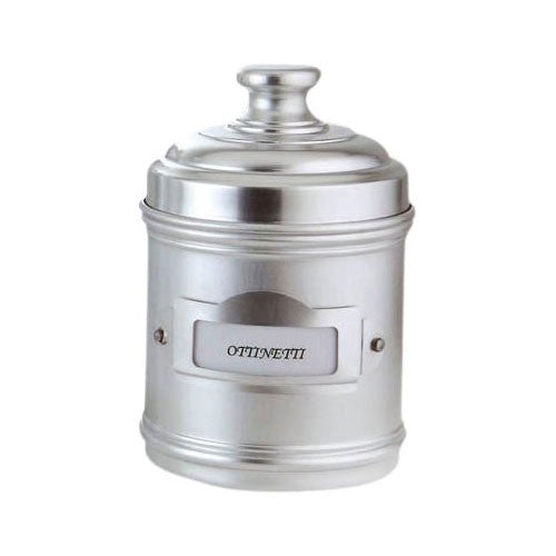 Ottinetti 1673DN10 Aluminium Storage Canister with Label Holder, 1-Quart