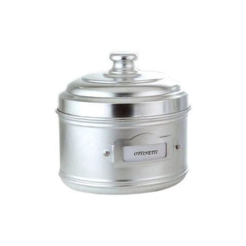 Ottinetti 1673DN16 Aluminium Storage Canister with Label Holder, 2.32-Quart