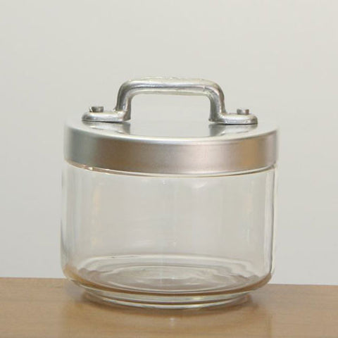 Ottinetti Glass Jar With Brushed Aluminum Lid 0.50-lt / 0.50-qt