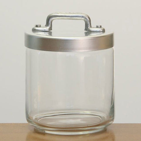Ottinetti Glass Jar With Brushed Aluminum Lid 0.75-lt / 0.8-qt