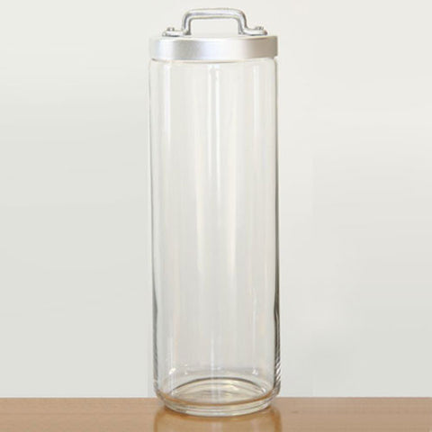 Ottinetti Spaghetti Glass Jar With Brushed Aluminum Lid