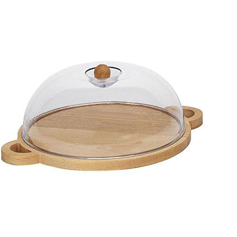 Bisetti Round Cheese Holder with Handles and Lid