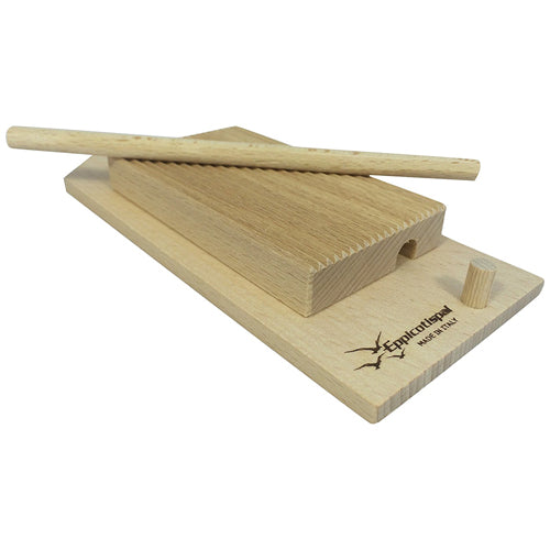 Eppicotispai Garganelli & Gnocchi Stripper With Paddle, Natural Beechwood
