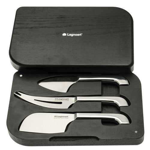 Legnoart Polo Cheese Knife Set In Luxury Wooden Box