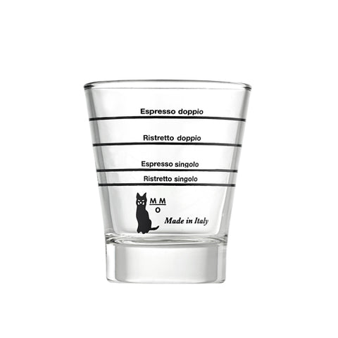 Motta 1412 Barista Graduated Coffee Glass, Clear