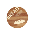 "Bisetti Beechwood Cutting Boards, ""Bread"" Themes 2nd Bread Design"
