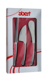 Abert 3-Piece Cheese Knife Set in Stainless Steel with Gift Box