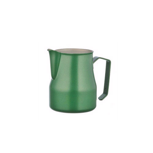 Motta Stainless Steel Professional Milk Pitcher/Jugs, 11.8-floz / 35-cl, Green