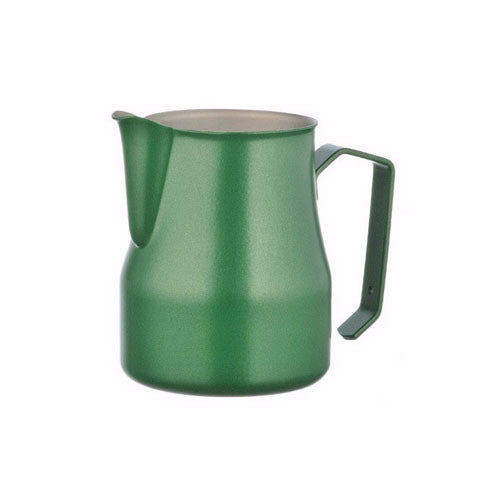 Motta Stainless Steel Professional Milk Pitcher/Jugs, 17-floz / 50-cl, Green