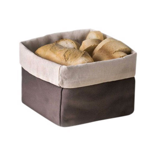 Abert Large Cotton Square Bread Basket, Brown