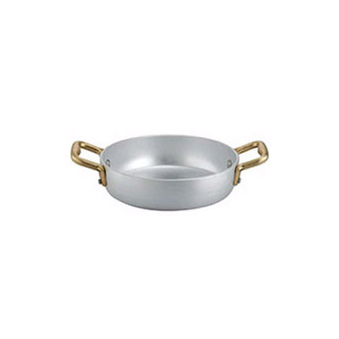Ottinetti Brushed Aluminum Sauteuse With Copper Handles, 14-cm / 5.5-in