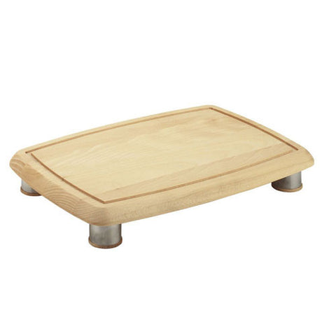 Bisetti Beechwood Rectangular Cutting Board with Feet