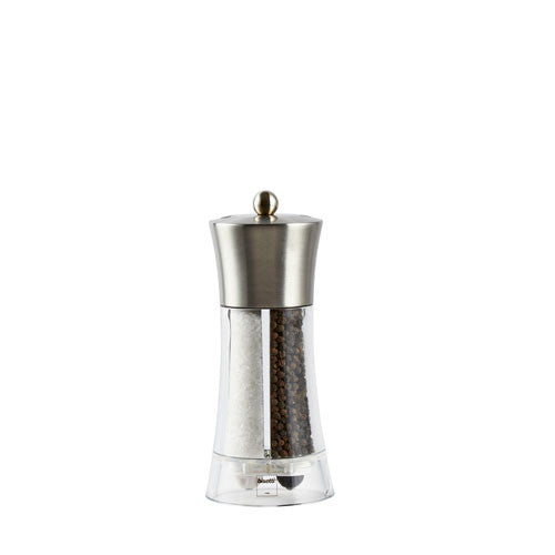 Bisetti Acrylic and Stainless Steel Salt & Pepper Mill