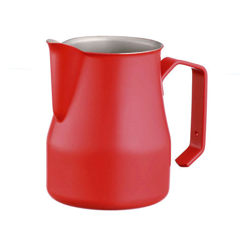 Motta Stainless Steel Professional Milk Pitcher/Jugs, 17-floz / 50-cl, Red