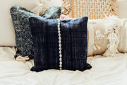 Blue Batik Seashell Pillow Cover