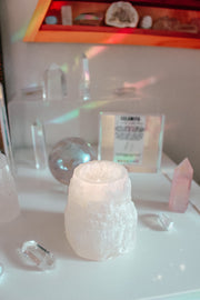 Selenite Tower Candle Holder