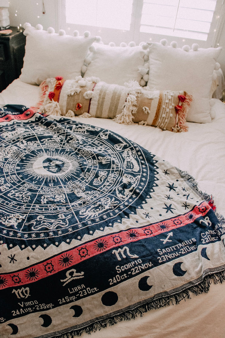 Zodiac Wheel Blanket
