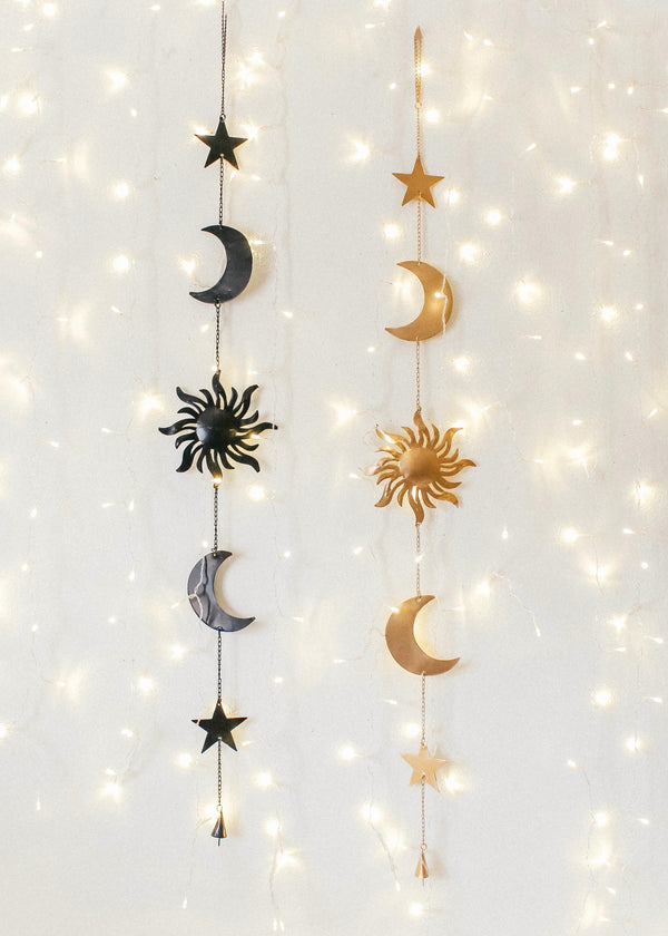 Celestial Sun And Moon Wall Hanging Decor