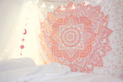 Blush Rose Mandala Tapestry