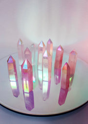 Aura Rose Quartz Tower Point