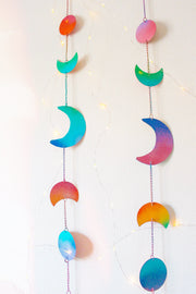 Rainbow Moon Phase Decor