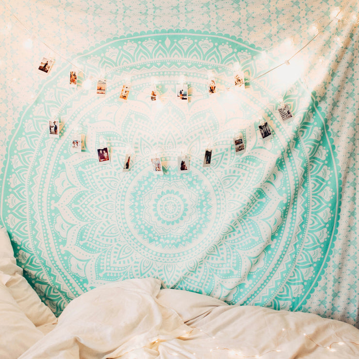 Mermaid Vibes Mandala Tapestry