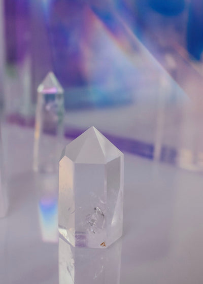 Clear Quartz Crystal Tower Point