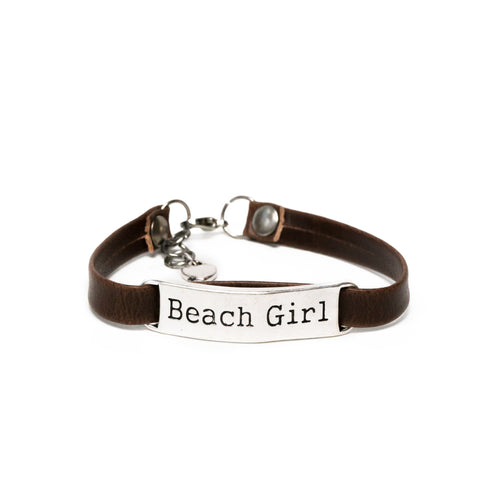 Beach Girl Leather Bracelet
