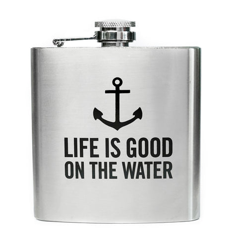 Life Is Good On The Water Flask