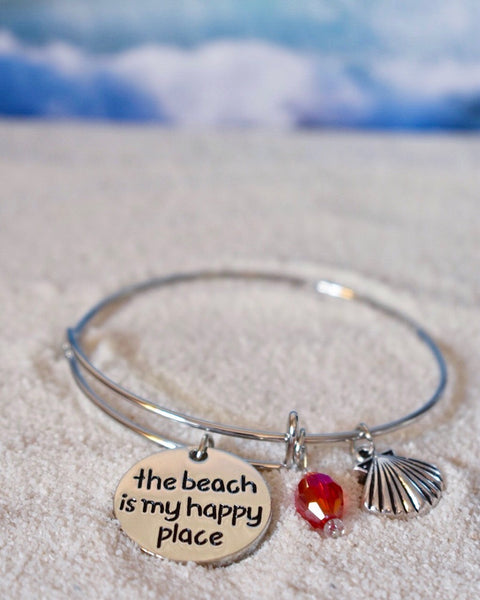 Beach Is My Happy Place Bracelet