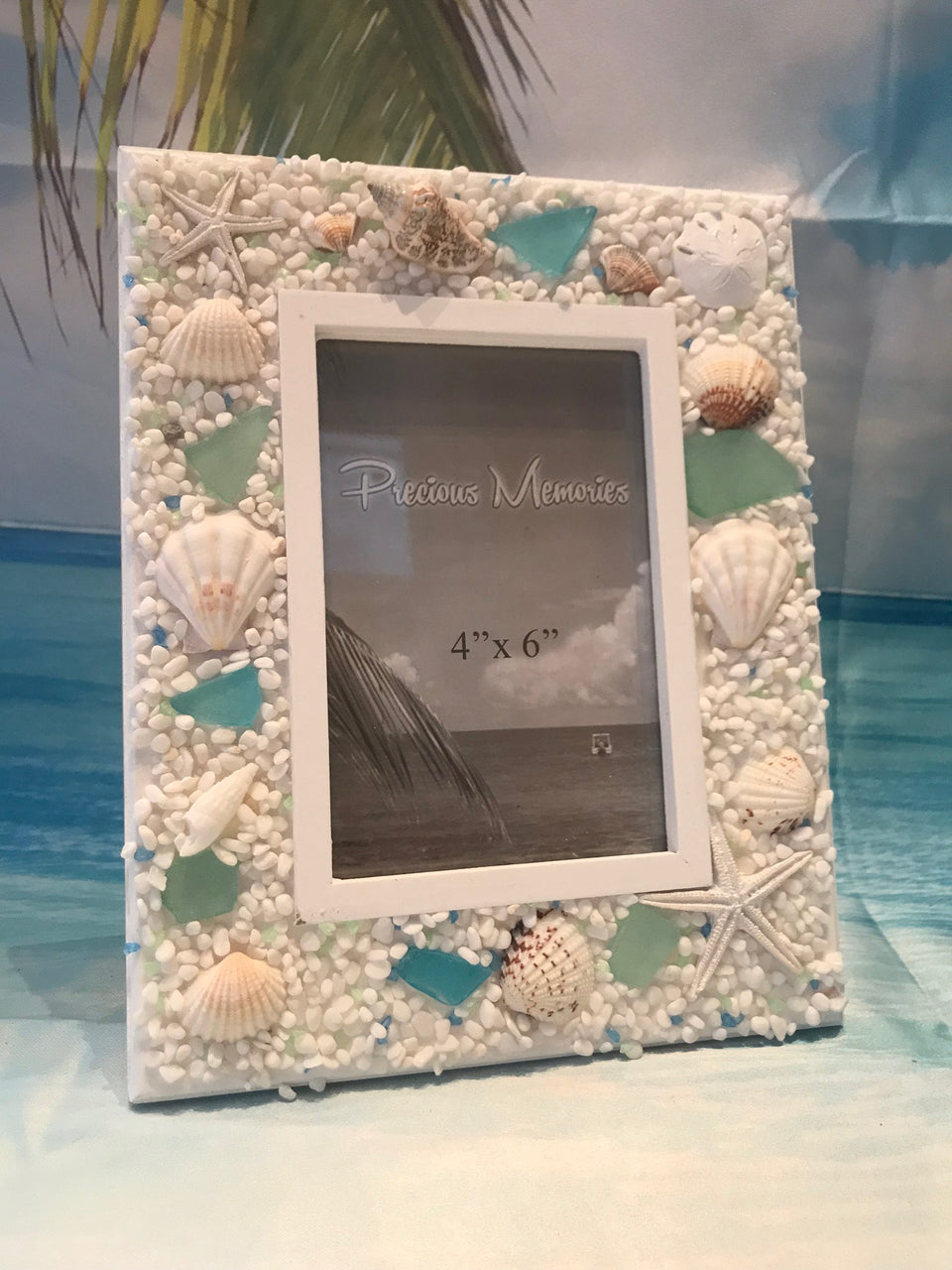 assorted seashells picture frame poseidon s place