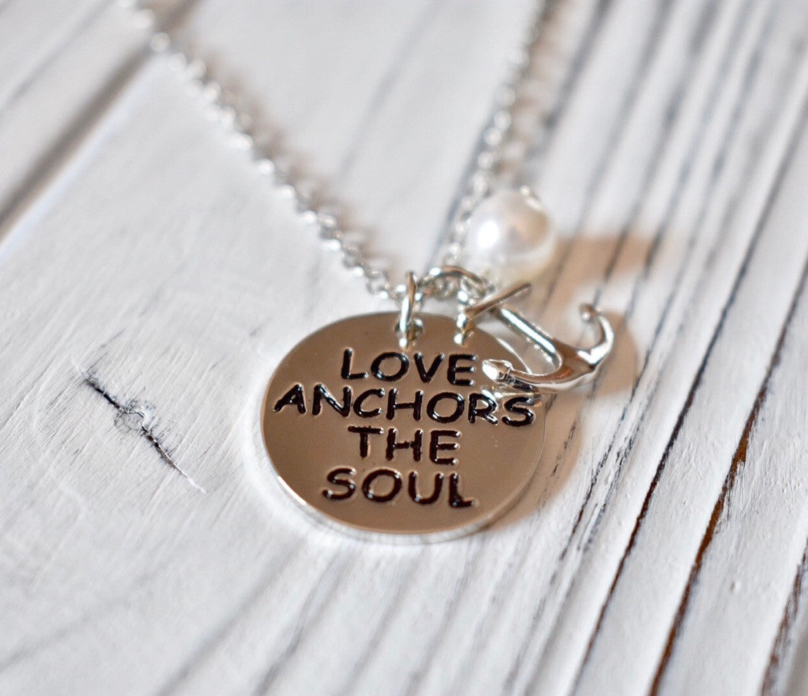 Love Anchors The Soul Necklace