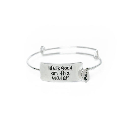 Life is Good on the Water Bracelet