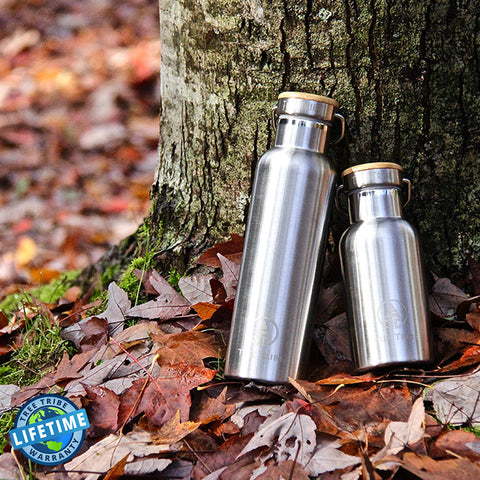 Tree Tribe Eco Water Bottle - Indestructible, Stainless Steel, Insulated, No Sweat, Leak Proof  | 20oz / 12oz