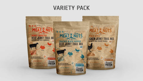 Meat N Nuts 12 PACK - VARIETY Try all three flavors!