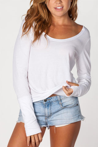 Long Sleeve Scoop Neck- W/ Thumbholes